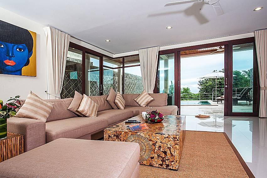 Living room walking distance outside of Baan Phu Kaew C4