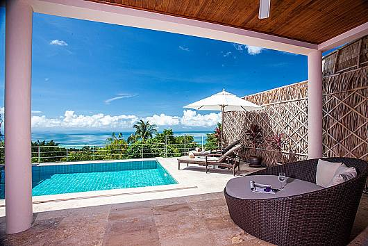 Аренда виллы на Самуи: Baan Phu Kaew C5 – 3 Bed Hillside Pool Villa with Sea Views, 3 Спальни. 9765 бат в день
