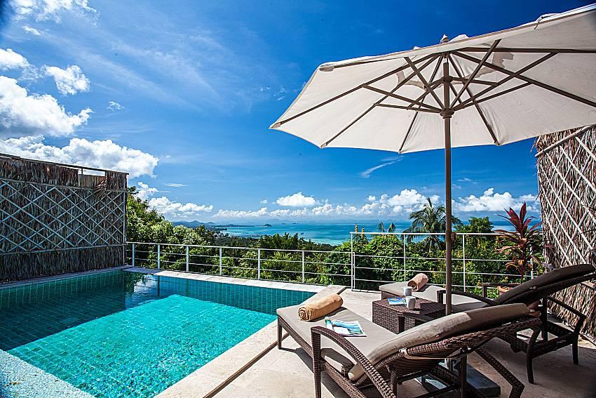 Sun bed near the pool of Baan Phu Kaew C5