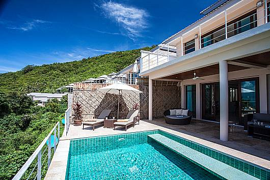 Аренда виллы на Самуи: Baan Phu Kaew C5 – 3 Bed Hillside Pool Villa with Sea Views, 3 Спальни. 9342 бат в день