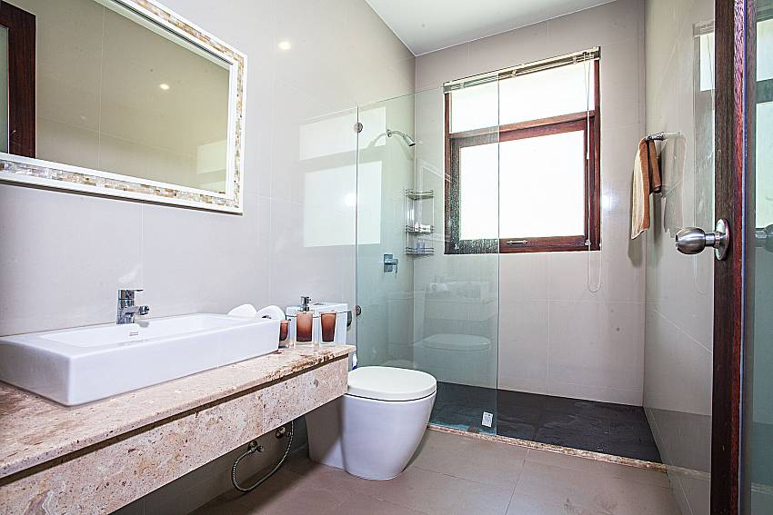 Bathroom with shower and toilet of Baan Phu Kaew C5