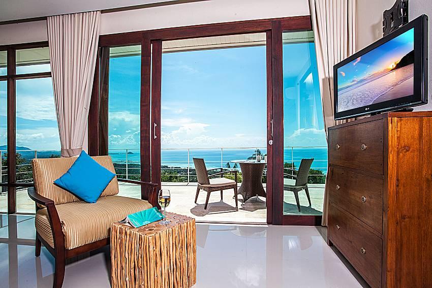 Sofa in the bedroom near the balcony of Baan Phu Kaew C5