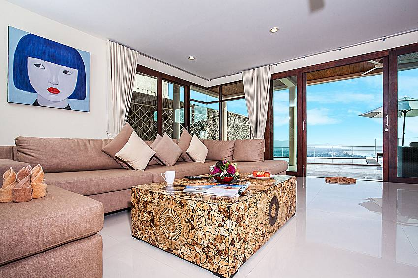 Living room walking distance outside of Baan Phu Kaew A3
