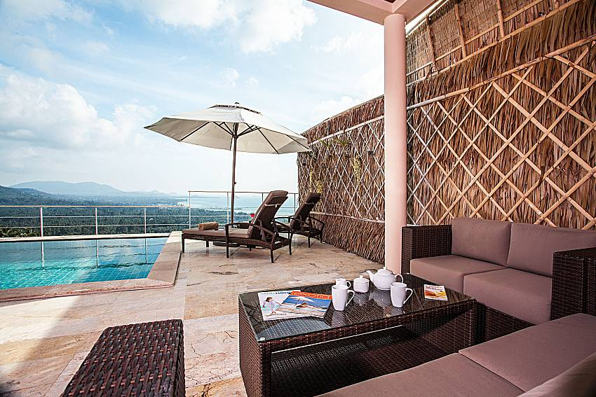 Sofa table near the pool of Baan Phu Kaew A3