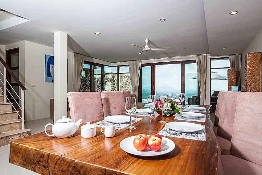Dinning table near the ladder of Baan Phu Kaew A3