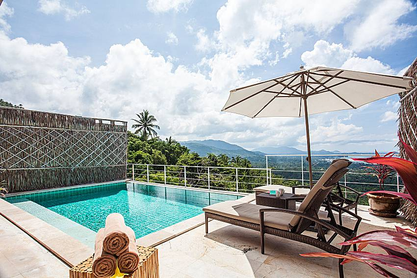 Sun bed near the pool of Baan Phu Kaew A4