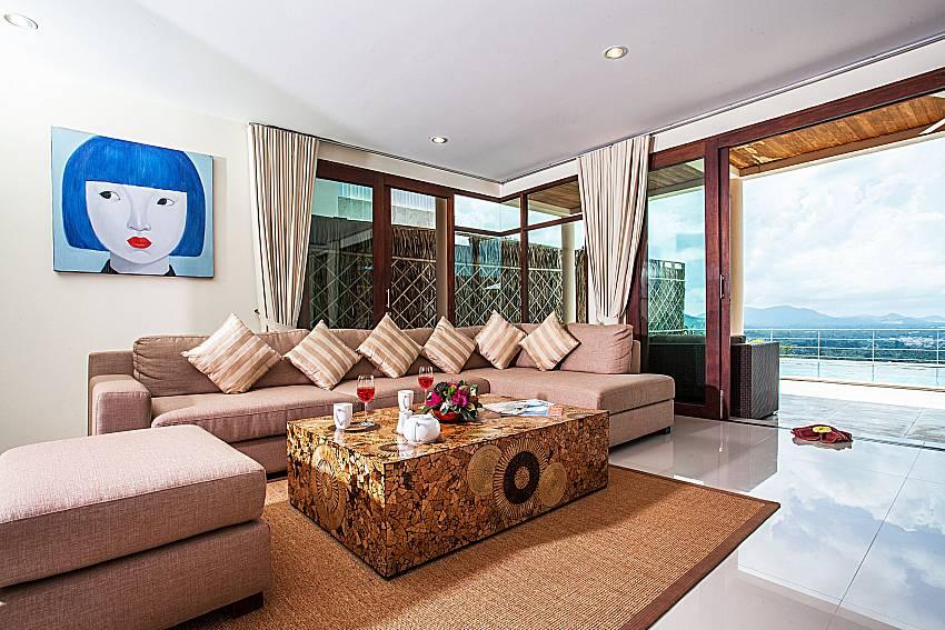 Living room walking distance outside of Baan Phu Kaew A4