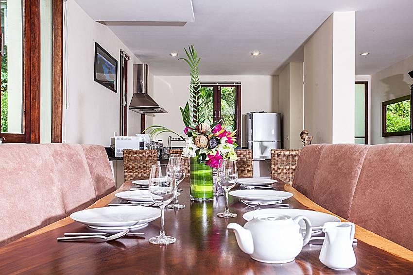 Dinning table in the house of Baan Phu Kaew A4