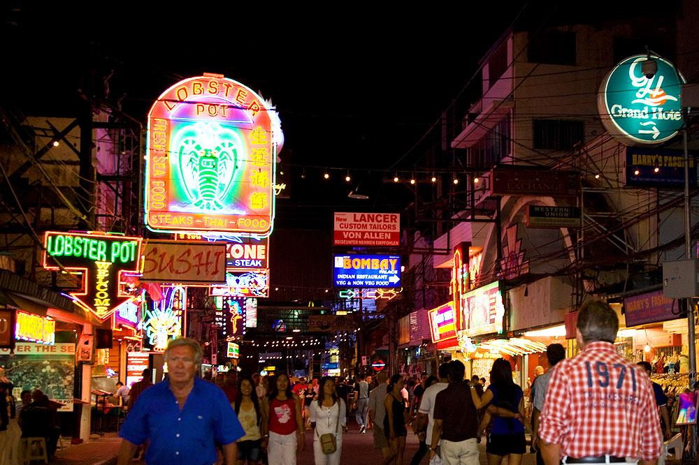 Walking street in Pattaya Thailand
